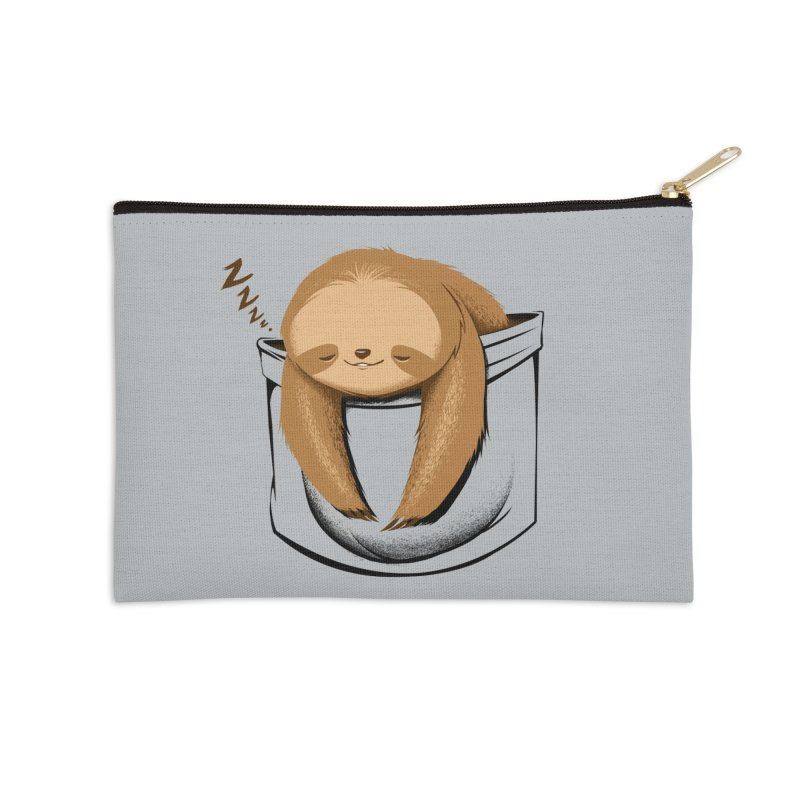 Sloth in a Pocket Accessories Zip Pouch by Tobe Fonseca's Artist Shop