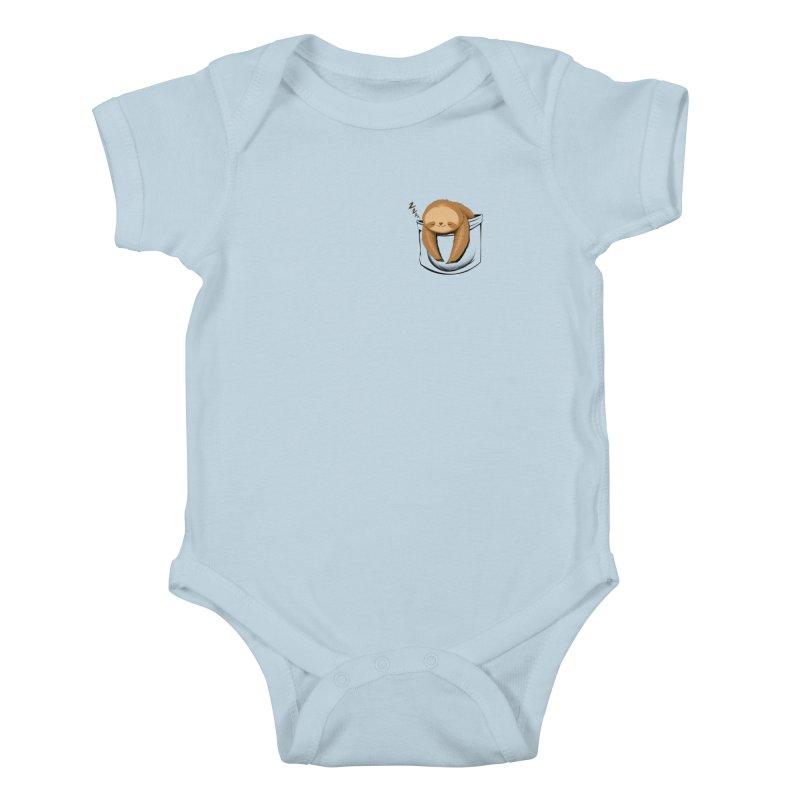 Sloth in a Pocket Kids Baby Bodysuit by Tobe Fonseca's Artist Shop