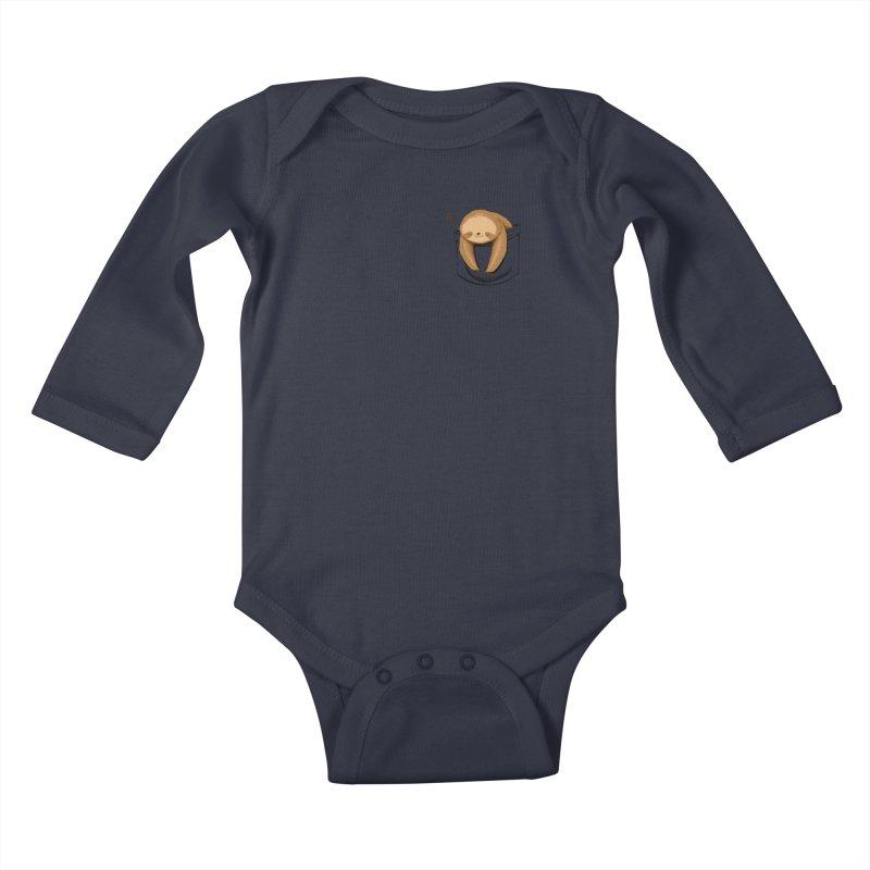 Sloth in a Pocket Kids Baby Longsleeve Bodysuit by Tobe Fonseca's Artist Shop