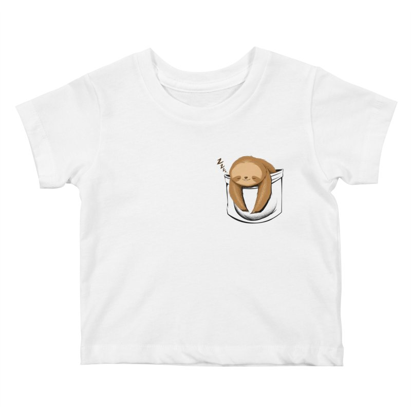 Sloth in a Pocket Kids Baby T-Shirt by Tobe Fonseca's Artist Shop