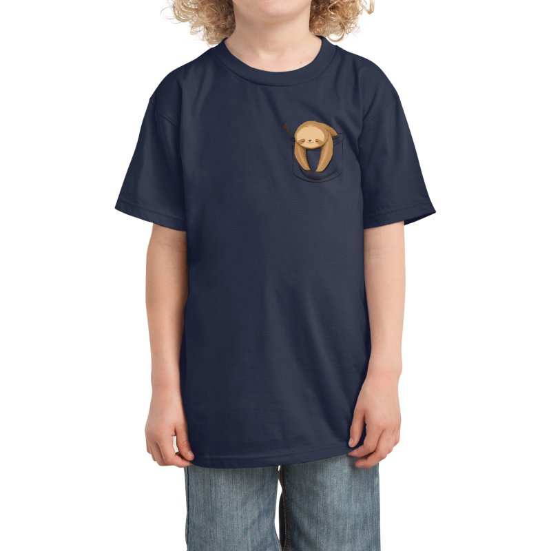 Sloth in a Pocket Kids T-Shirt by Tobe Fonseca's Artist Shop