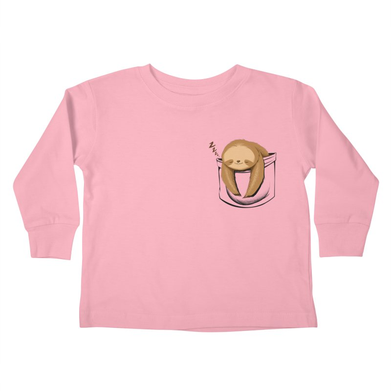 Sloth in a Pocket Kids Toddler Longsleeve T-Shirt by Tobe Fonseca's Artist Shop