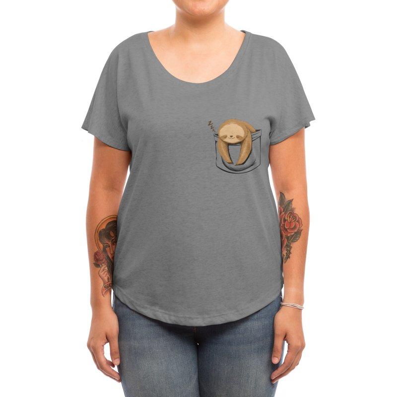 Sloth in a Pocket Women's Scoop Neck by Tobe Fonseca's Artist Shop