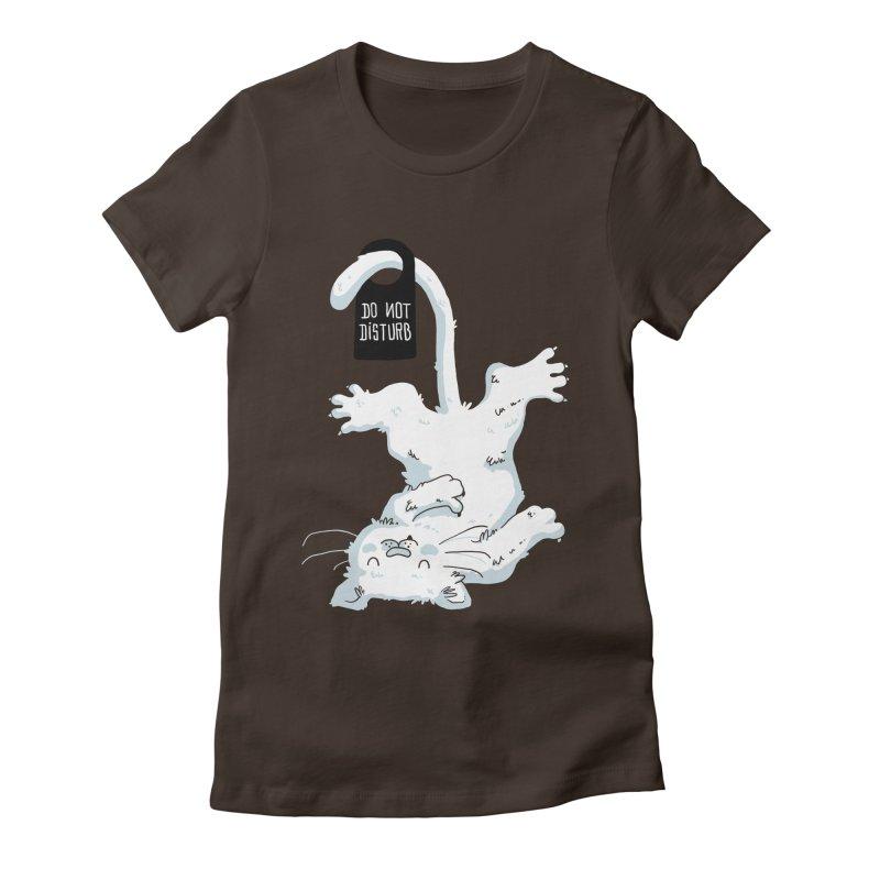 Do Not Disturb Women's Fitted T-Shirt by Tobe Fonseca's Artist Shop