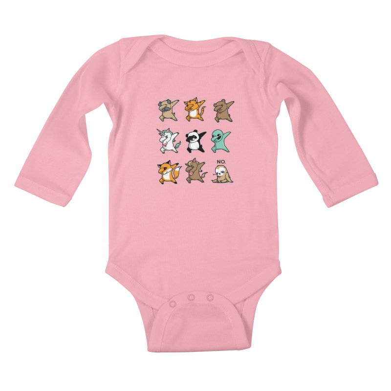 Dabbing Party Kids Baby Longsleeve Bodysuit by Tobe Fonseca's Artist Shop