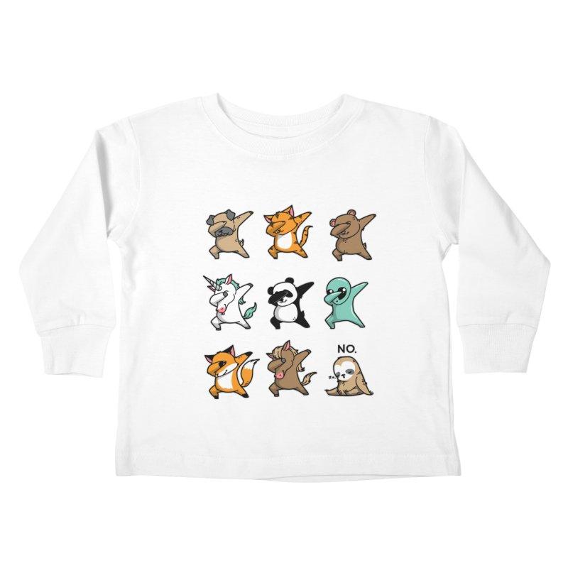 Dabbing Party Kids Toddler Longsleeve T-Shirt by Tobe Fonseca's Artist Shop