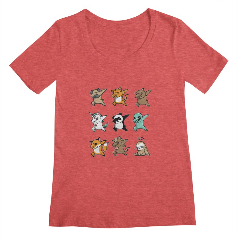 Dabbing Party Women's Scoopneck by Tobe Fonseca's Artist Shop