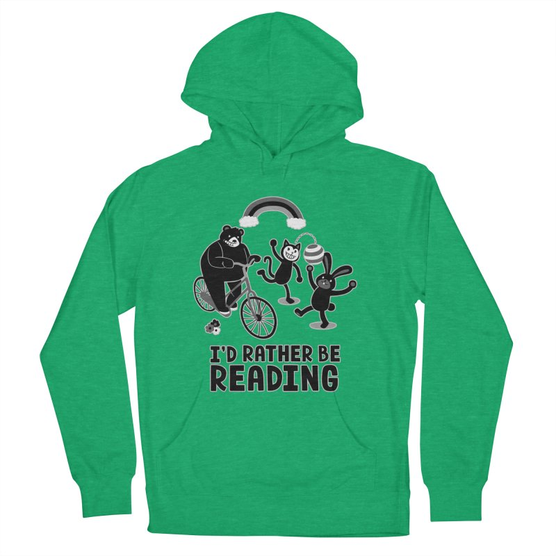 I'd Rather Be Reading Black and White Men's Pullover Hoody by Tobe Fonseca's Artist Shop