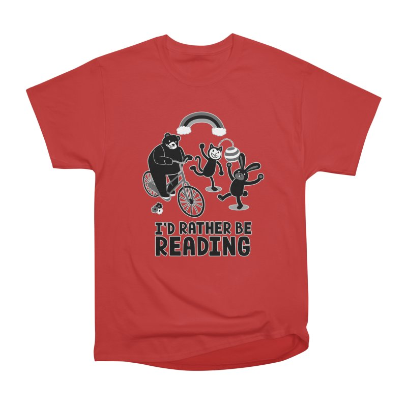 I'd Rather Be Reading Black and White Men's Classic T-Shirt by Tobe Fonseca's Artist Shop
