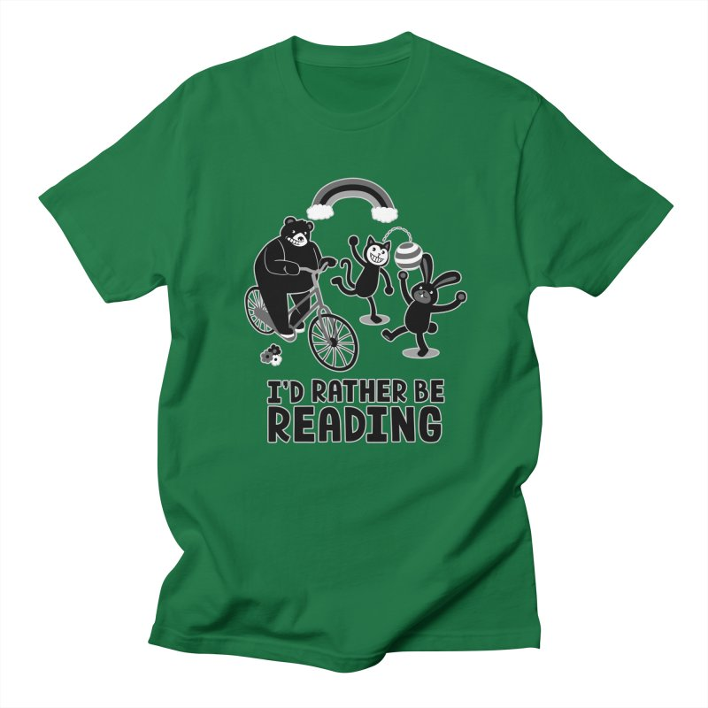 I'd Rather Be Reading Black and White Men's T-Shirt by Tobe Fonseca's Artist Shop