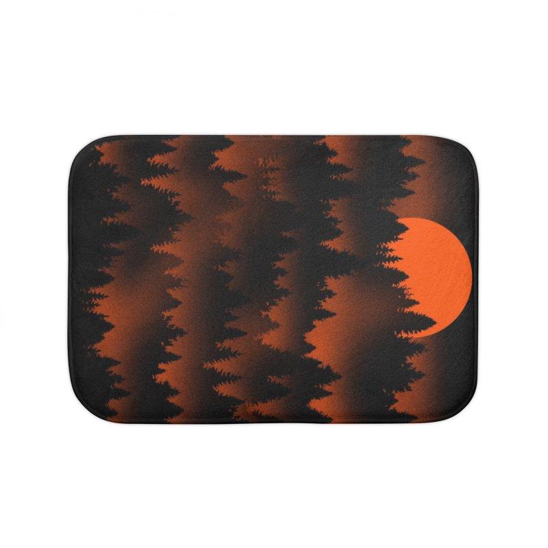 Incendio Home Bath Mat by Tobe Fonseca's Artist Shop