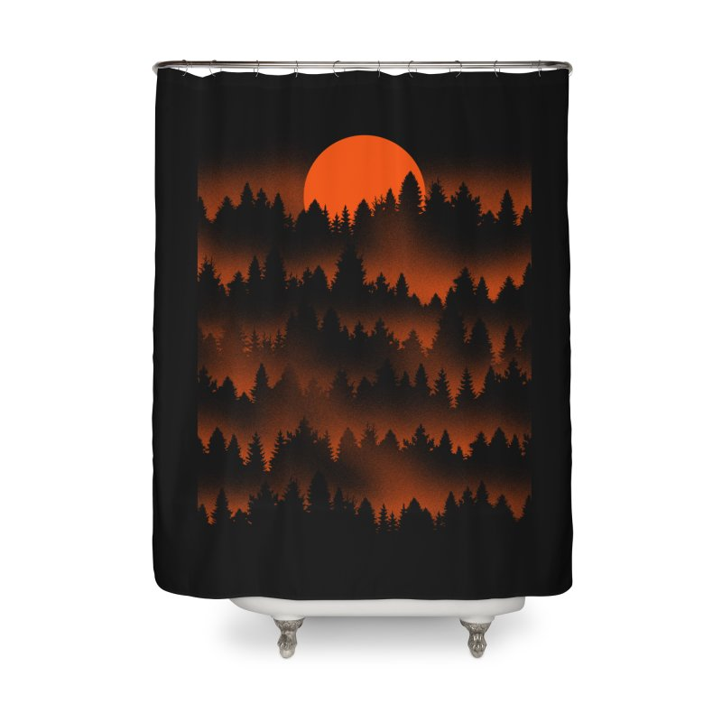 Incendio Home Shower Curtain by Tobe Fonseca's Artist Shop
