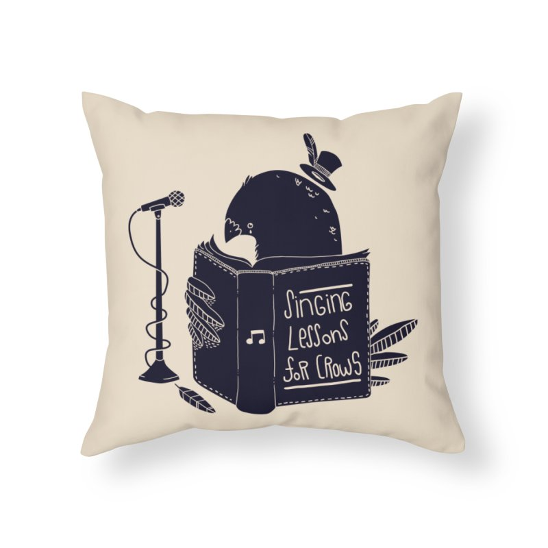 Singing Lessons Home Throw Pillow by Tobe Fonseca's Artist Shop
