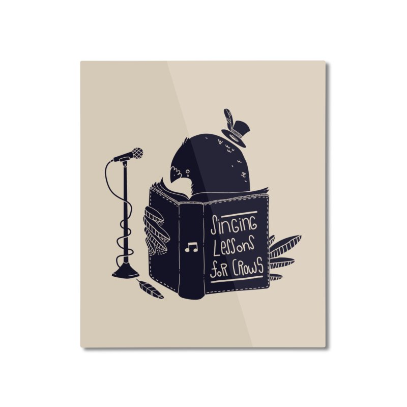Singing Lessons Home Mounted Aluminum Print by Tobe Fonseca's Artist Shop