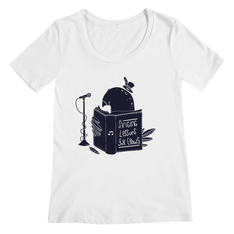 Singing Lessons Women's Scoopneck by Tobe Fonseca's Artist Shop