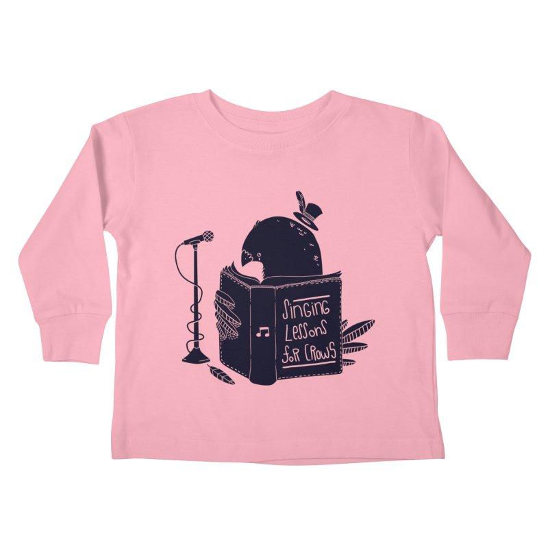 Singing Lessons Kids Toddler Longsleeve T-Shirt by Tobe Fonseca's Artist Shop