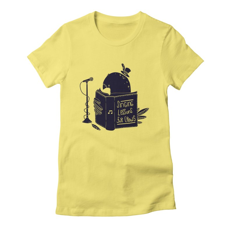 Singing Lessons Women's Fitted T-Shirt by Tobe Fonseca's Artist Shop