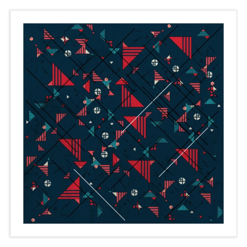 Geometric Abstract Red Pattern Home Fine Art Print by Tobe Fonseca's Artist Shop