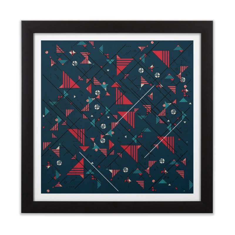 Geometric Abstract Red Pattern Home Framed Fine Art Print by Tobe Fonseca's Artist Shop