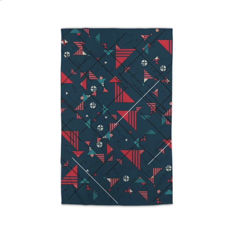 Geometric Abstract Red Pattern Home Rug by Tobe Fonseca's Artist Shop