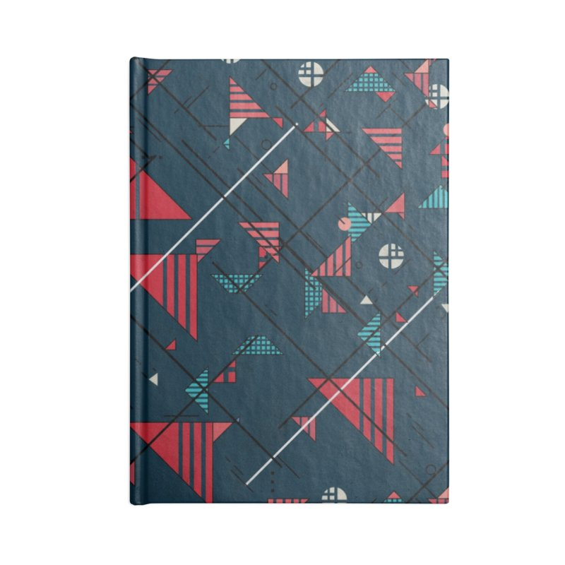 Geometric Abstract Red Pattern Accessories Notebook by Tobe Fonseca's Artist Shop