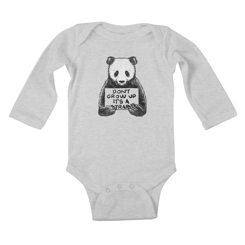 Don't grow up its a trap Kids Baby Longsleeve Bodysuit by Tobe Fonseca's Artist Shop