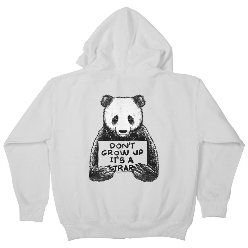 Don't grow up its a trap Kids Zip-Up Hoody by Tobe Fonseca's Artist Shop