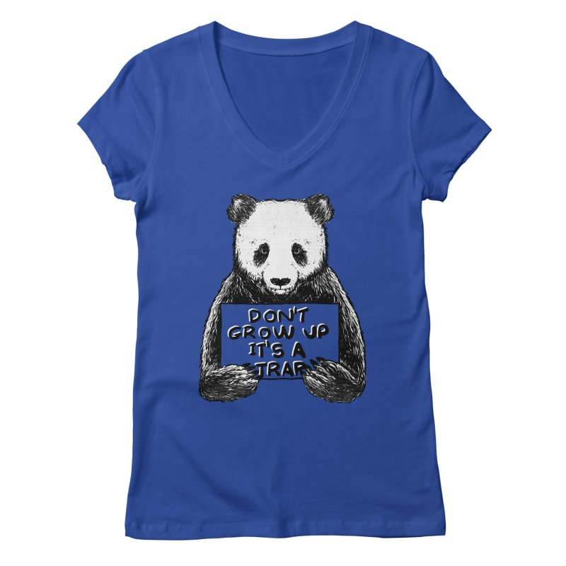 Don't grow up its a trap Women's V-Neck by Tobe Fonseca's Artist Shop