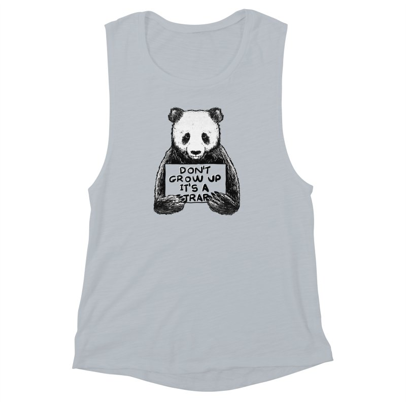 Don't grow up its a trap Women's Muscle Tank by Tobe Fonseca's Artist Shop