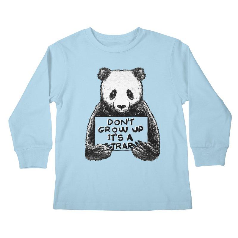 Don't grow up its a trap Kids Longsleeve T-Shirt by Tobe Fonseca's Artist Shop