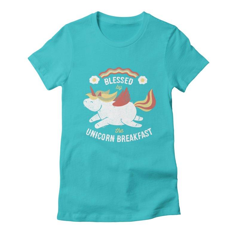 Bacon Breakfast Women's Fitted T-Shirt by Tobe Fonseca's Artist Shop