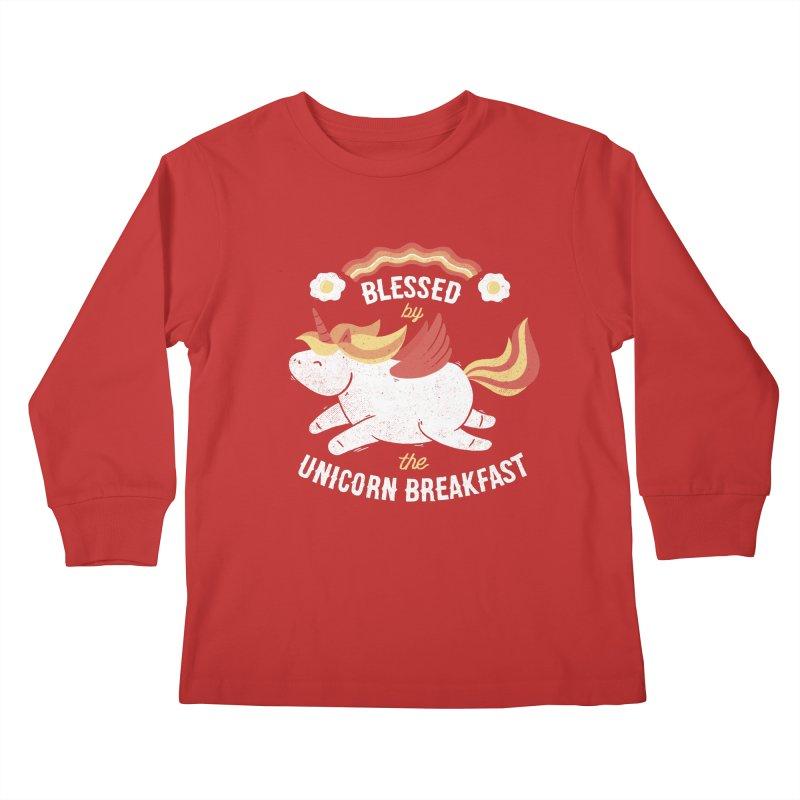 Bacon Breakfast Kids Longsleeve T-Shirt by Tobe Fonseca's Artist Shop