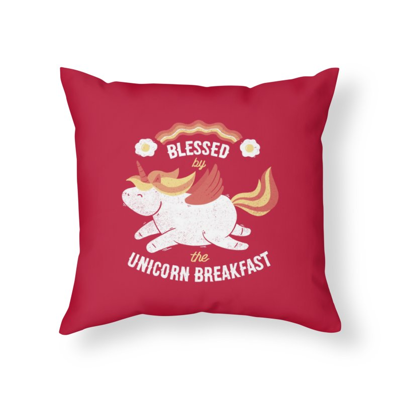 Bacon Breakfast Home Throw Pillow by Tobe Fonseca's Artist Shop