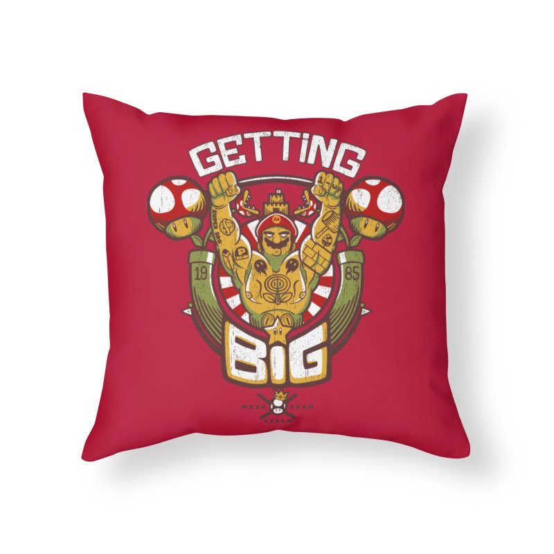 Getting Big Red Home Throw Pillow by Tobe Fonseca's Artist Shop
