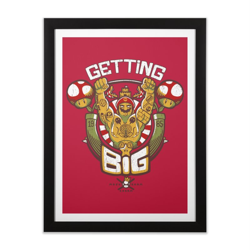 Getting Big Red Home Framed Fine Art Print by Tobe Fonseca's Artist Shop