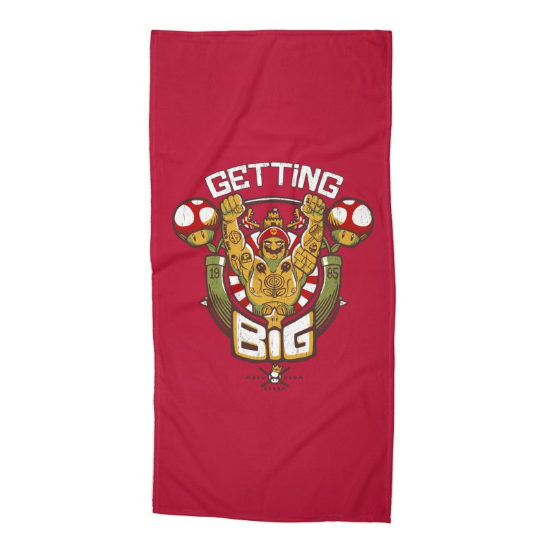 Getting Big Red Accessories Beach Towel by Tobe Fonseca's Artist Shop