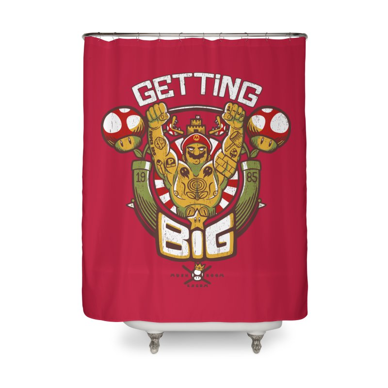 Getting Big Red Home Shower Curtain by Tobe Fonseca's Artist Shop