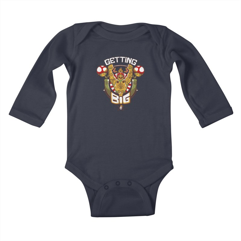 Getting Big Red Kids Baby Longsleeve Bodysuit by Tobe Fonseca's Artist Shop