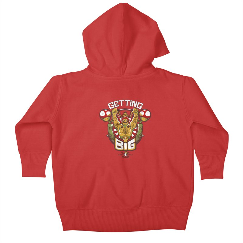 Getting Big Red Kids Baby Zip-Up Hoody by Tobe Fonseca's Artist Shop