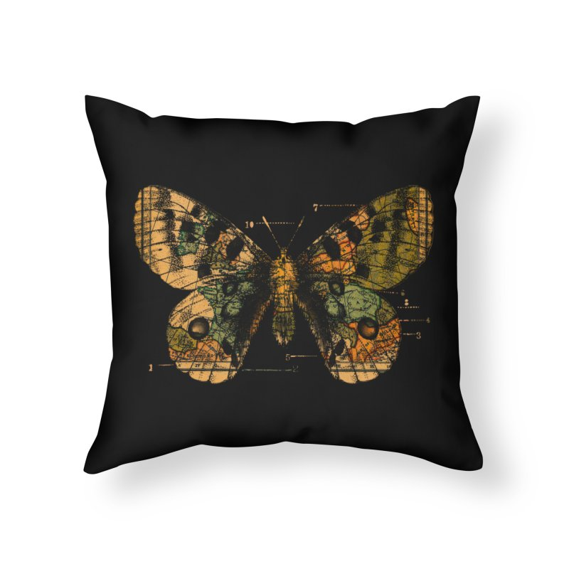 Time Flies Home Throw Pillow by Tobe Fonseca's Artist Shop