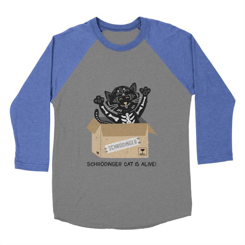 Am I Alive Schrödinger Cat Women's Baseball Triblend T-Shirt by Tobe Fonseca's Artist Shop