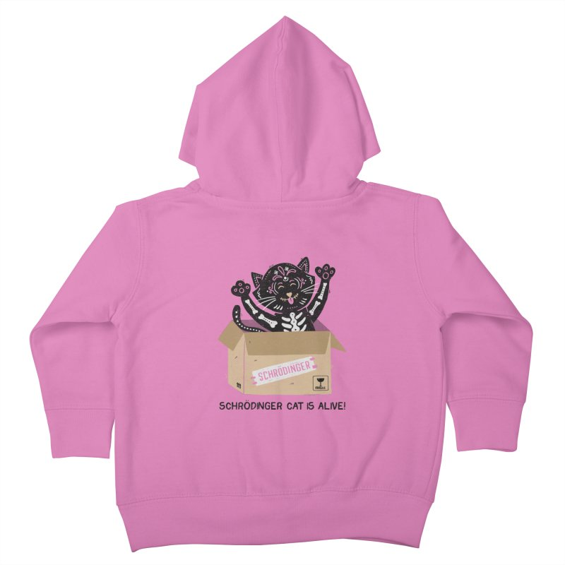 Am I Alive Schrödinger Cat Kids Toddler Zip-Up Hoody by Tobe Fonseca's Artist Shop