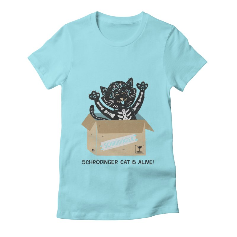 Am I Alive Schrödinger Cat Women's Fitted T-Shirt by Tobe Fonseca's Artist Shop