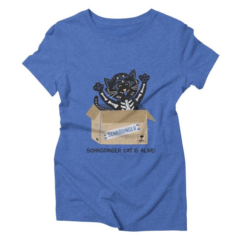 Am I Alive Schrödinger Cat Women's Triblend T-Shirt by Tobe Fonseca's Artist Shop
