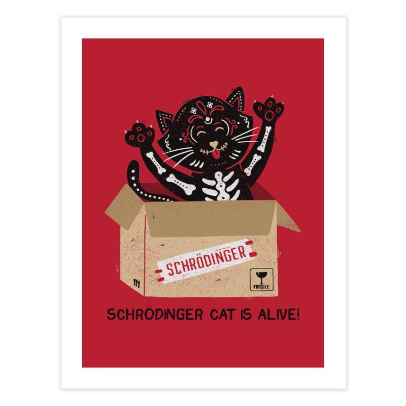 Am I Alive Schrödinger Cat Home Fine Art Print by Tobe Fonseca's Artist Shop