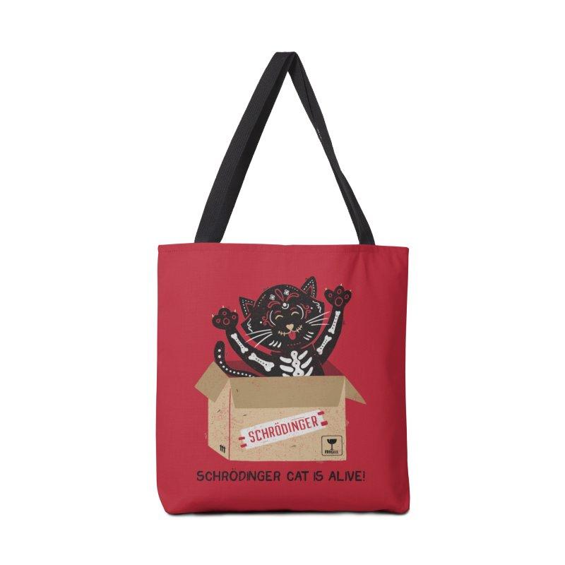 Am I Alive Schrödinger Cat Accessories Bag by Tobe Fonseca's Artist Shop