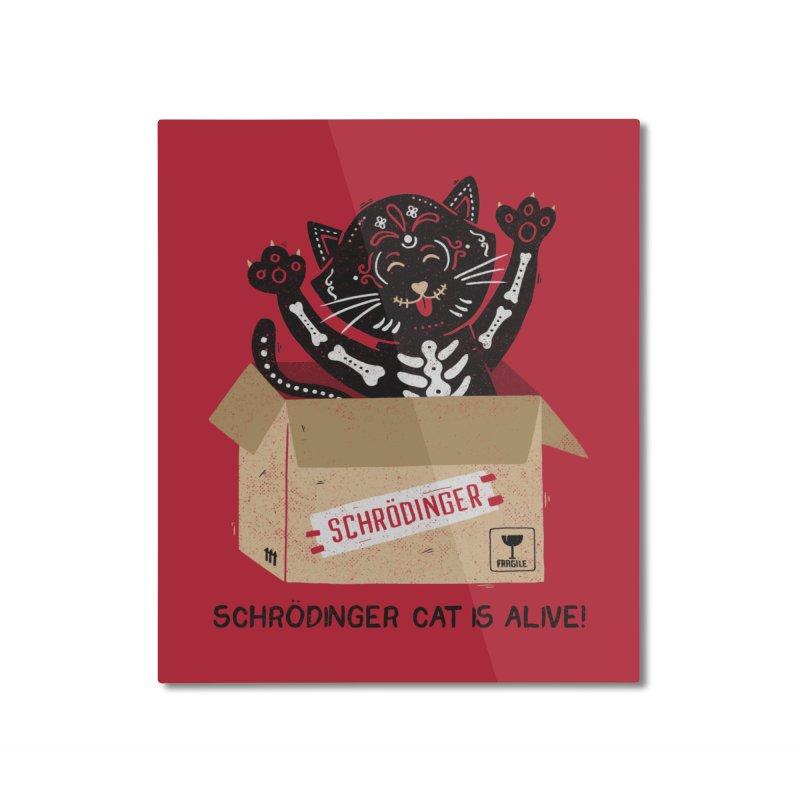 Am I Alive Schrödinger Cat Home Mounted Aluminum Print by Tobe Fonseca's Artist Shop