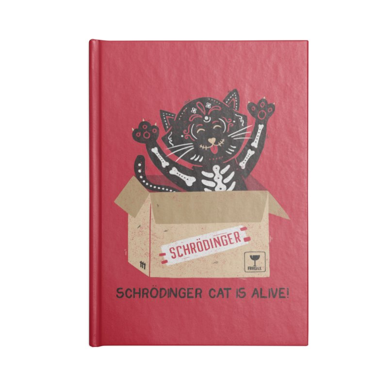 Am I Alive Schrödinger Cat Accessories Notebook by Tobe Fonseca's Artist Shop