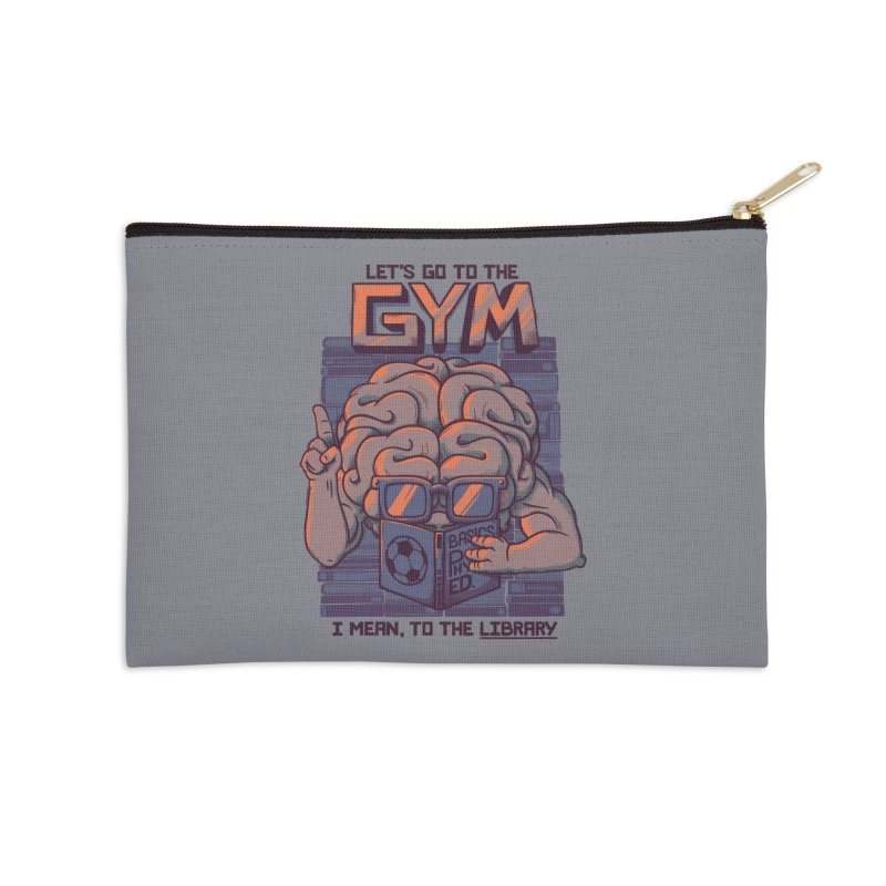 Let's go to the gym Accessories Zip Pouch by Tobe Fonseca's Artist Shop