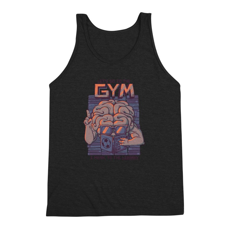 Let's go to the gym Men's Triblend Tank by Tobe Fonseca's Artist Shop